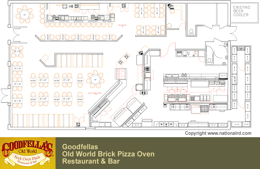Italian Restaurant Floor Plan Gallery